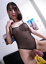 Pooh is a sexy slim asian tgirl with a pretty face, a sexy slim body and a nice long cock!