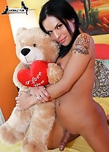 The lovely Foxxy is half-Mexican and half-Puerto Rican. She's really petite and feminine, just a cute girl. You might sometimes find her at the L