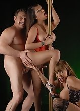 Dirty Carmen in a hot 3some with Ava