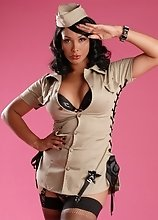 Attention your cock soldier beacuse sergeant Vaniity will fuck and suck that dry