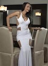 Sunshyne is So Fucking Hot in that White Sexy Dress