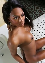 Black tgirl Mya Badd is beautiful and has a smashing body and she gave us an amazing thick cumshot!