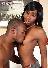 Sexy Jada Dickens is a hot black tgirl with a sexy slim body, natural tits with big nipples, a sexy firm ass and a hard cock! Watch this hot Grooby gi